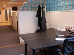 70 East Lake St. Chicago IL View into office from workstation