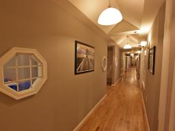 116 West 23rd Street New York NY Interior corridor with vaulted ceilings
