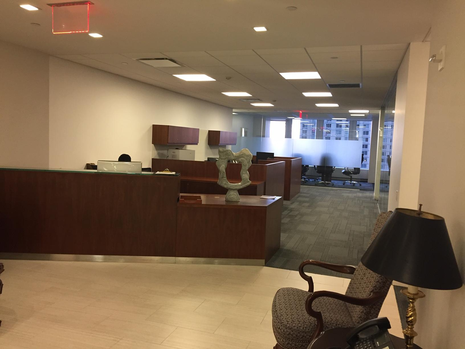 1700 Broadway New York NY High end reception area + Conference room