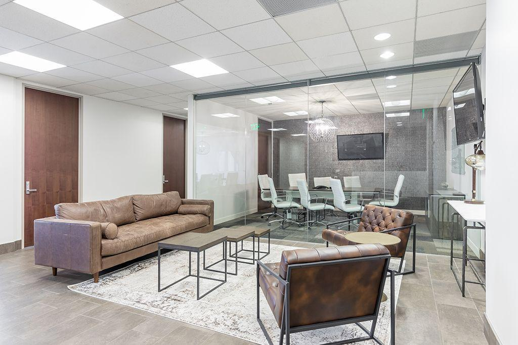 355 S. Grand Ave Los Angeles CA Glass wall conference room
